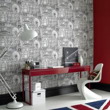 Graham & Brown White londinium wallpaper