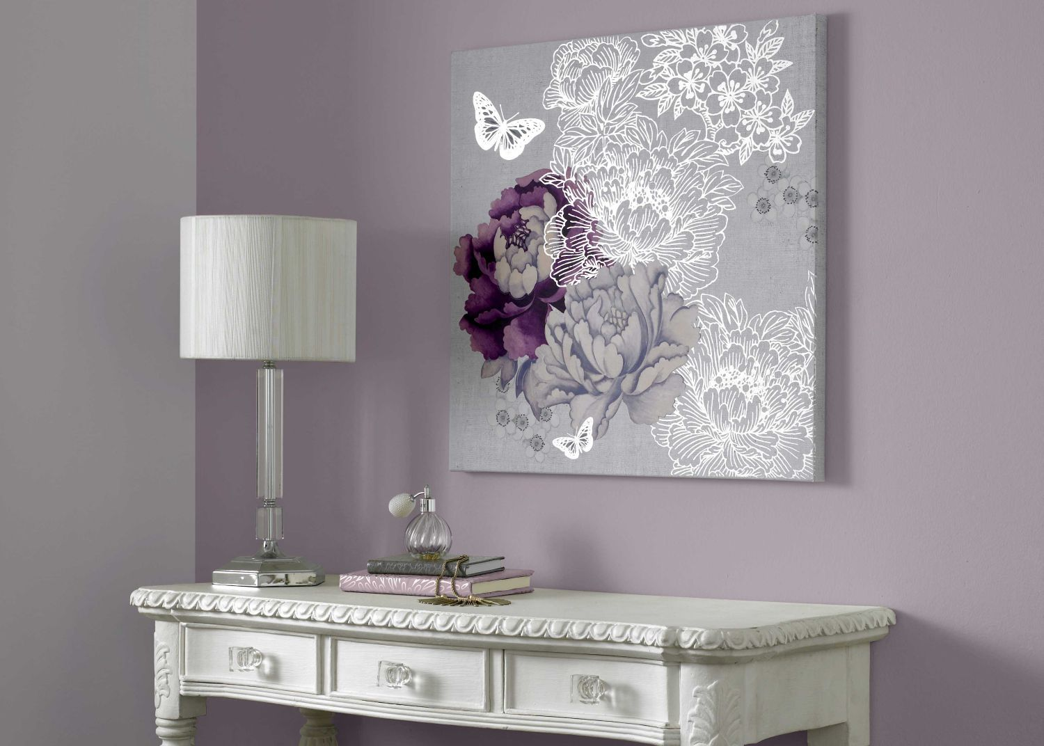 Monsoon Floral metallic wall art