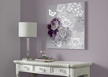 Graham & Brown Monsoon Floral metallic wall art