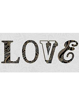 Monsoon Sequined love wall art