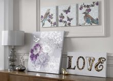 Graham & Brown Monsoon Sequined love wall art