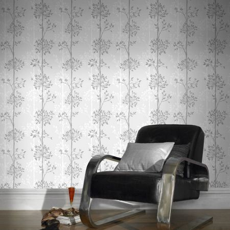 Graham & Brown White Floral Trail Wallpaper