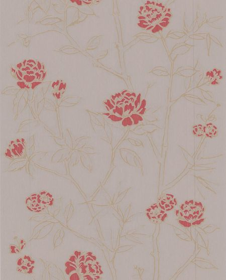 Graham & Brown Taupe/red hua wallpaper