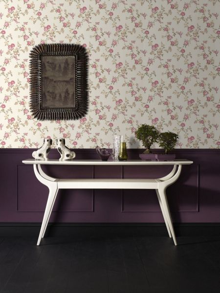Graham & Brown Rose buttermilk/pink/cottage wallpaper