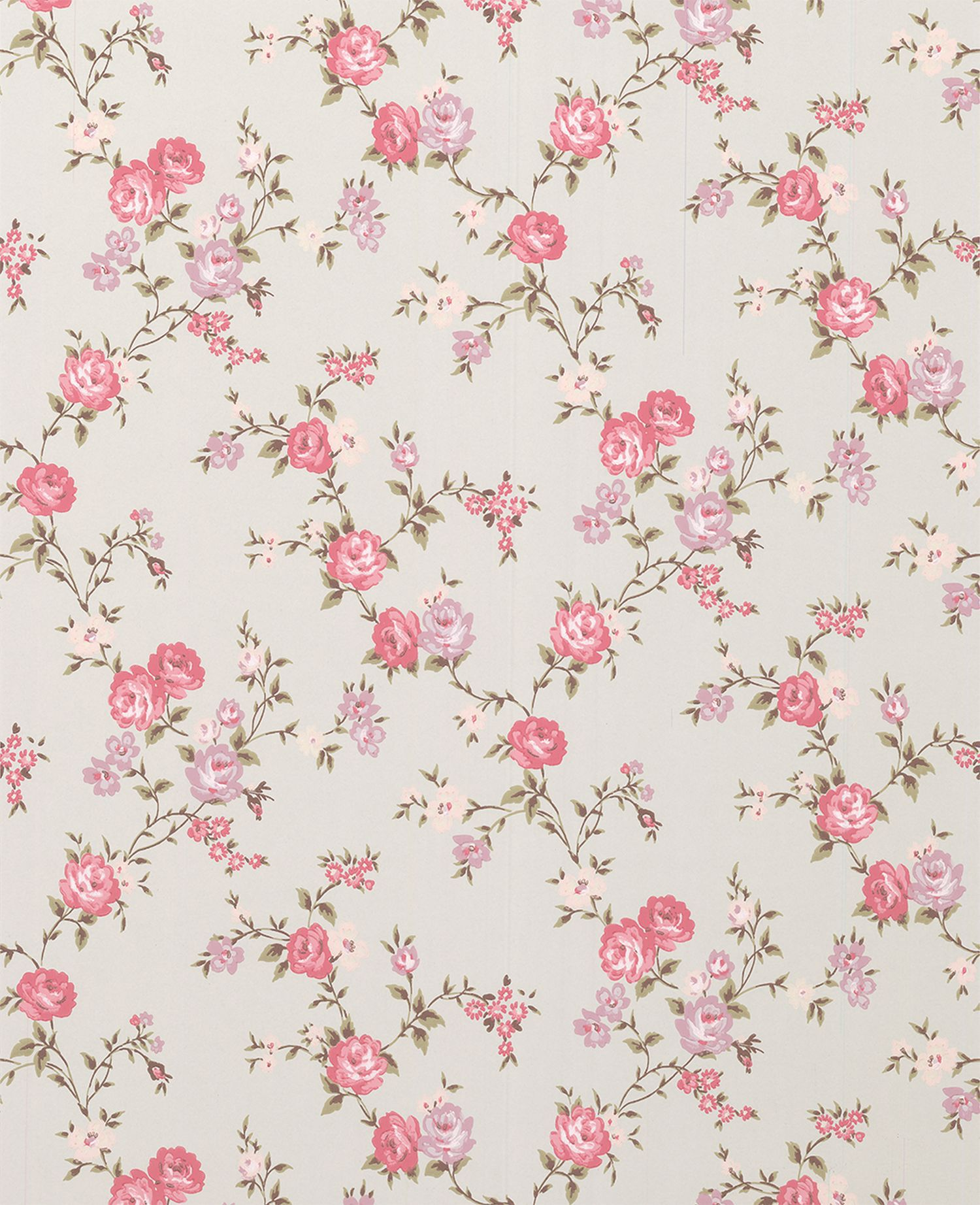 Rose duckegg/pink/lilic cottage wallpaper