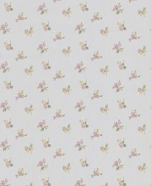 Graham & Brown Silver/heather/yellow rosebud wallpaper