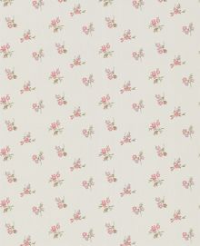 Graham & Brown Light blue duckegg/pink/lilac rosebud wallpaper