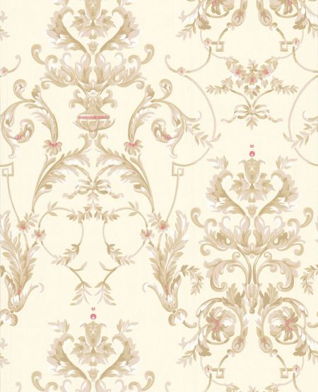 Graham & Brown Cream bewitched buttermilk wallpaper