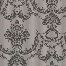 Graham & Brown Chocolate shimmer / black palais wallpaper
