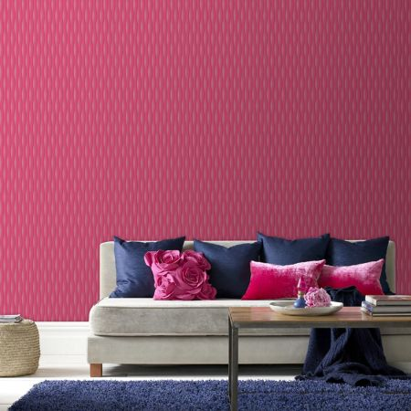 Graham & Brown Hot pink lucid wallpaper