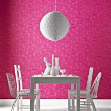 Graham & Brown Hot Pink checker wallpaper