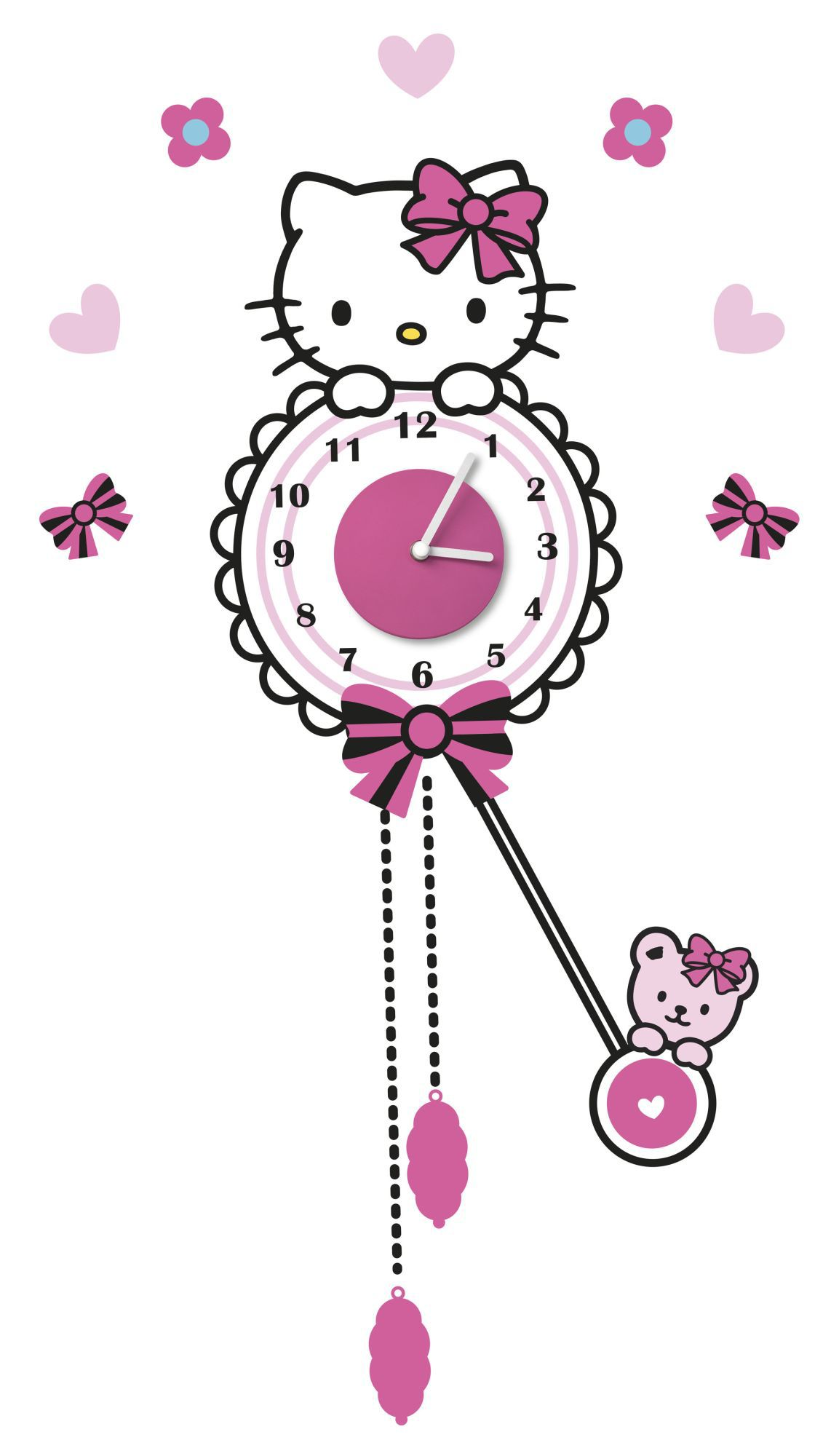Hello Kitty Sticker Clock