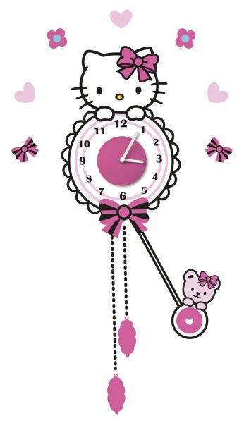 Graham & Brown Hello Kitty Sticker Clock