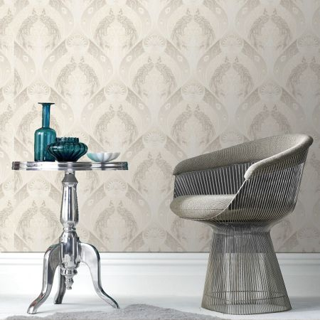 Graham & Brown Cream pendleton wallpaper
