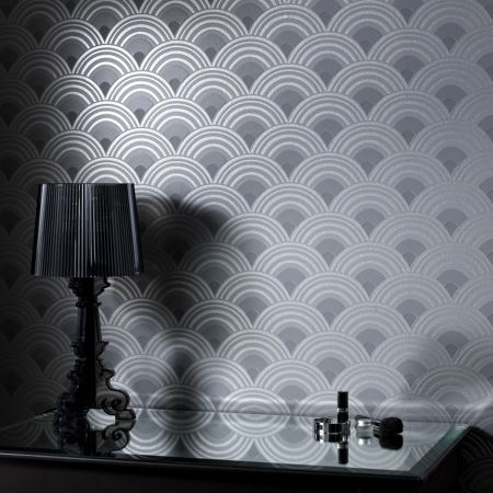 Graham & Brown Charcoal ennis wallpaper