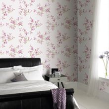 Graham & Brown Pink Clemmie Petal Floral Wallpaper