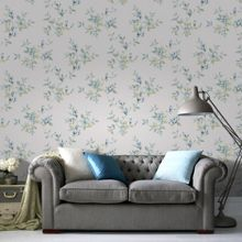 Graham & Brown Blue & Green Clemmie Floral Wallpaper