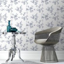 Graham & Brown Delft Blue Clemmie Floral Wallpaper