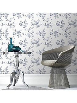 Delft Blue Clemmie Floral Wallpaper