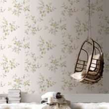 Graham & Brown Apple Green Clemmie Floral Wallpaper