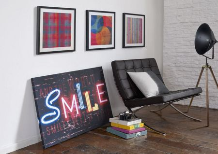 Graham & Brown Neon pixel wall art