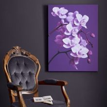 Purple orchid wall art