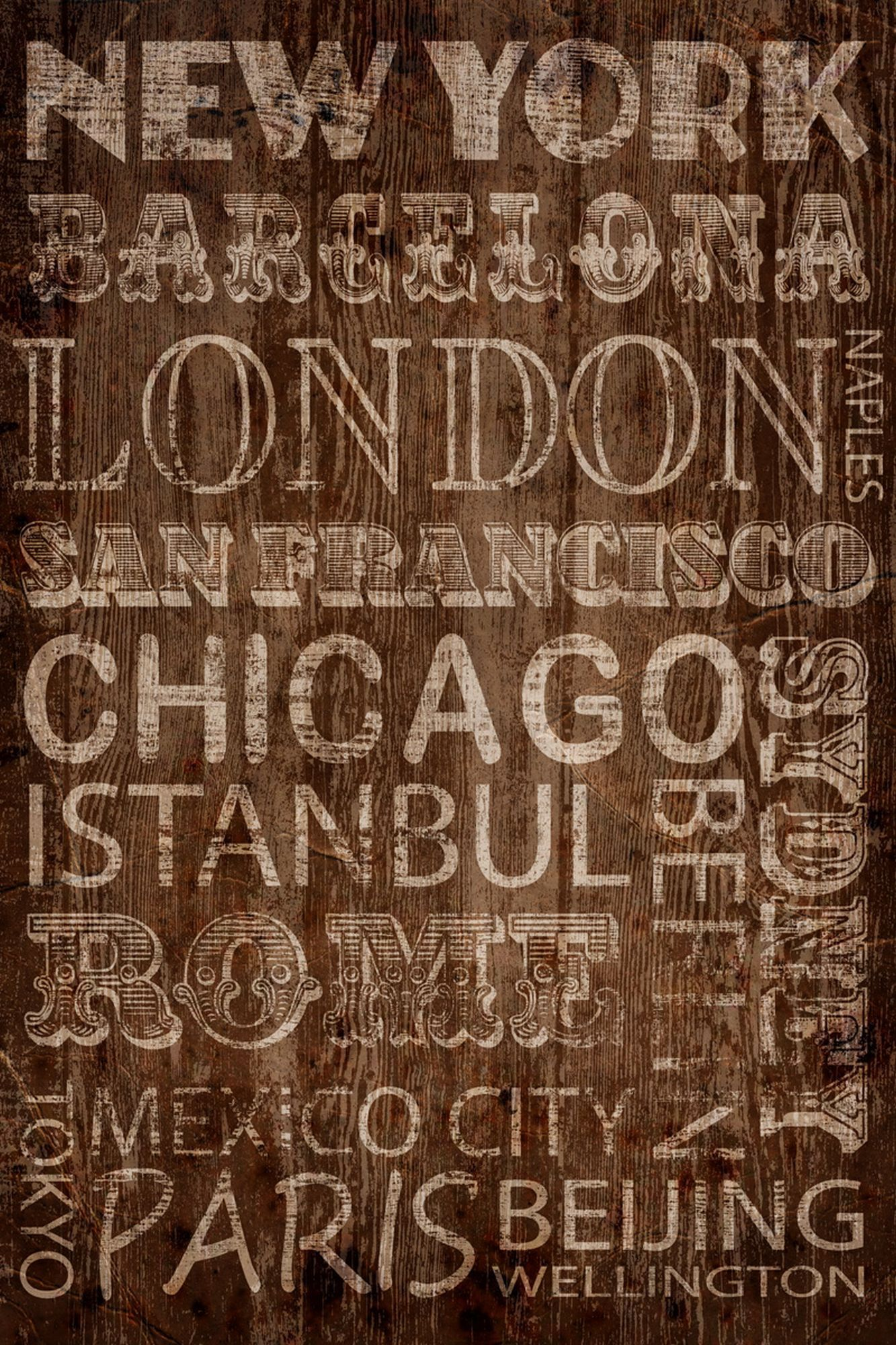 Cities wall art