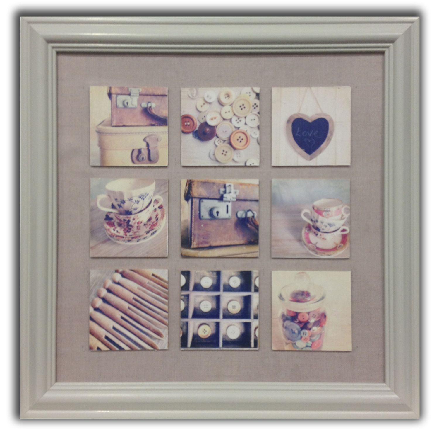 Handcraft multi aperture frame wall art