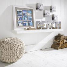 Beach scene multi aperture frame wall art