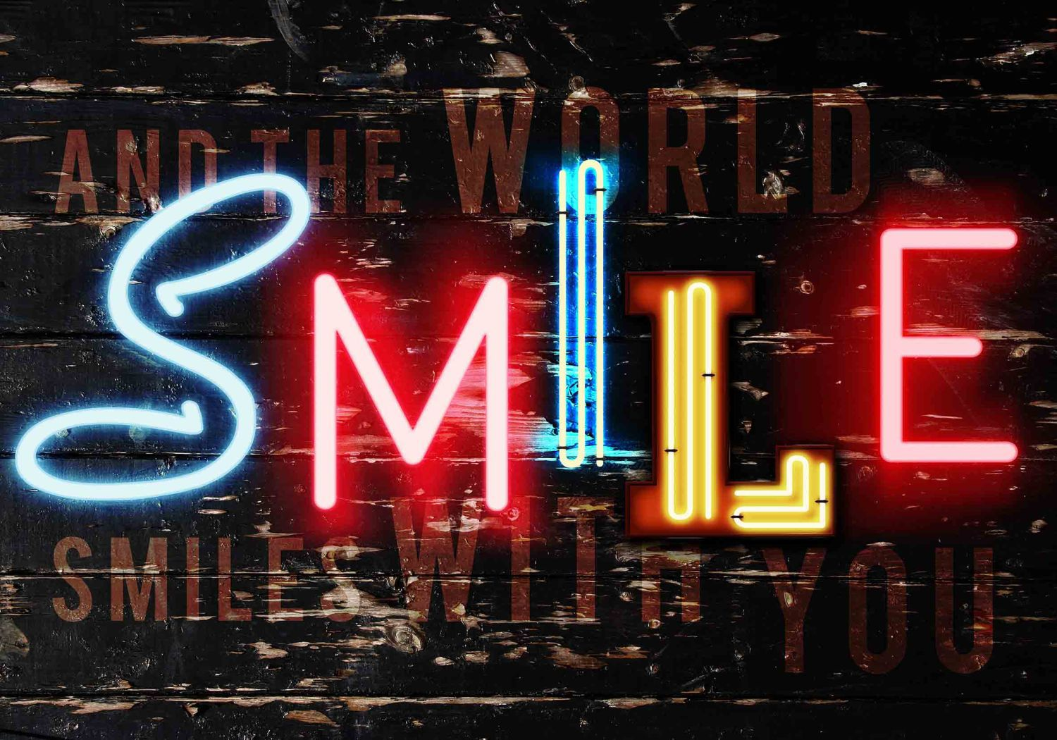 Smile wall art