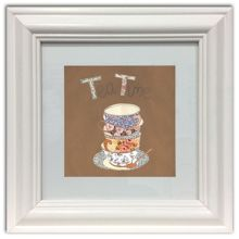 Tea for two framed wall art print