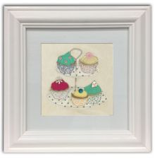 Time for cake framed wall art print