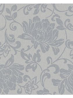 Grey jacquard wallpaper
