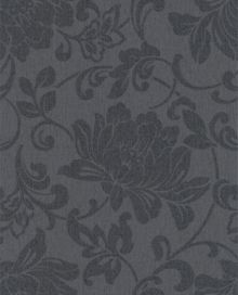 Graham & Brown Charcoal jacquard wallpaper