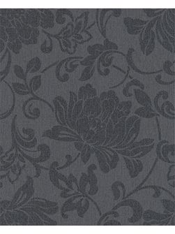 Charcoal jacquard wallpaper