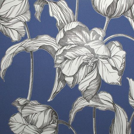 Graham & Brown Blue harem tulip wallpaper