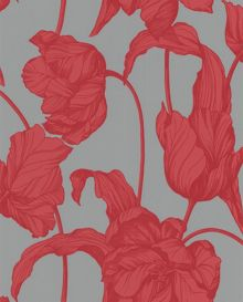 Graham & Brown Pink coral harem tulip wallpaper
