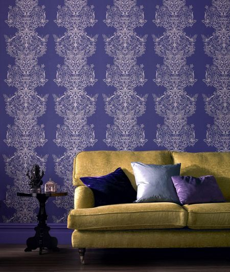 Graham & Brown Blue ink sinbad wallpaper