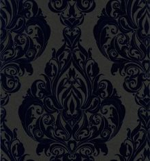 Blue kinky vintage rhythm wallpaper
