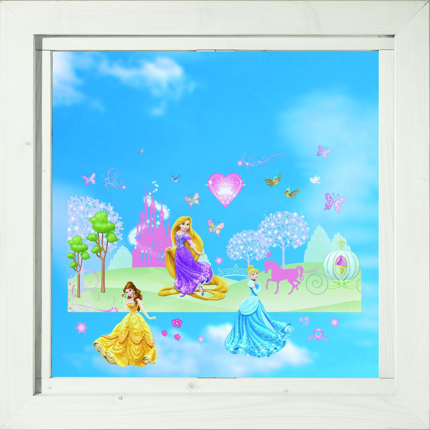 Princess Static Window Stickers