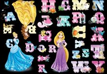 Princess Alphabet Stickers