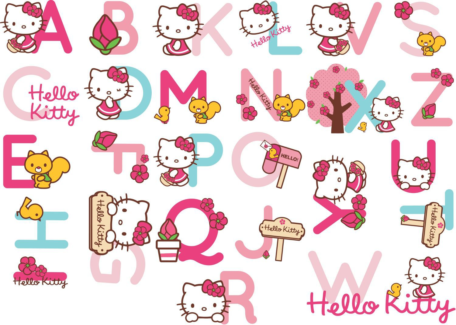 Hello Kitty Alphabet Stickers