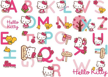 Graham & Brown Hello Kitty Alphabet Stickers
