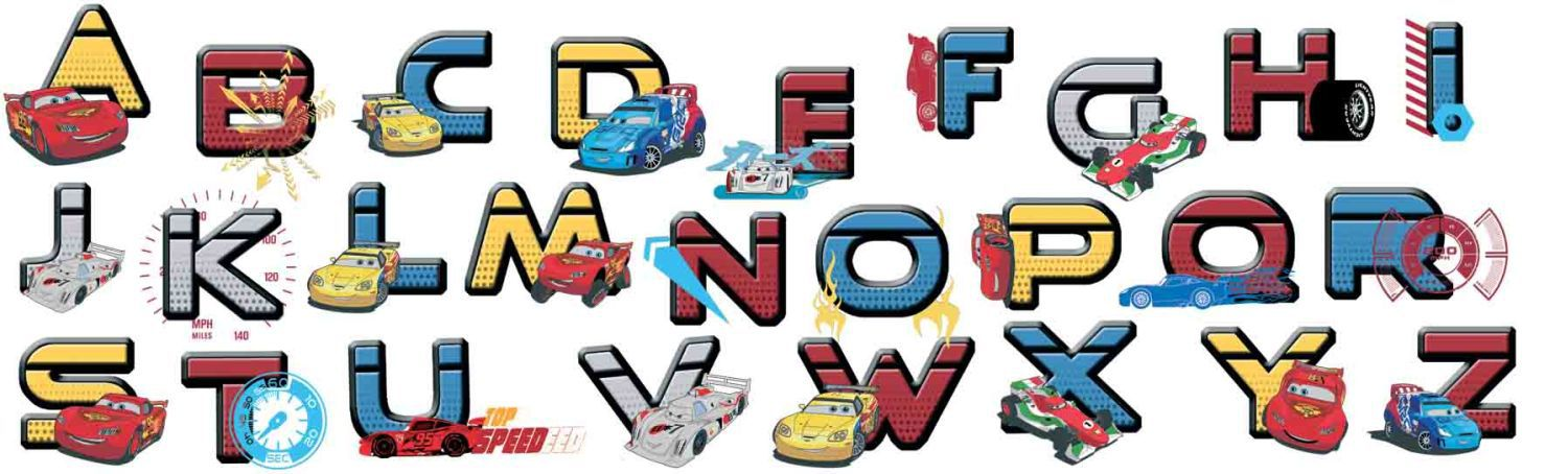 Cars Alphabet Stickers