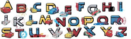 Graham & Brown Cars Alphabet Stickers