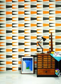 Graham & Brown White zest carnival desig wallpaper