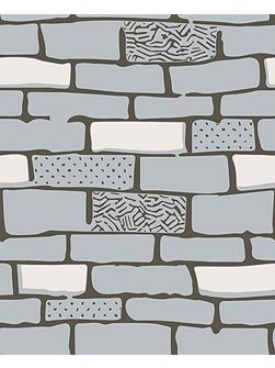 Grey the wall stone desig wallpaper