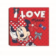 Red Minnie Mouse Printed Canvas