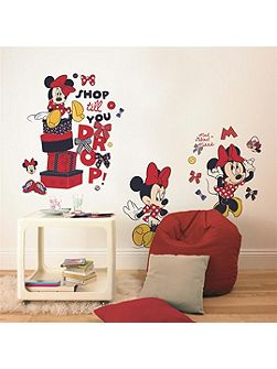 Red Minnie Mouse Maxi Sticker