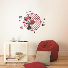 Graham & Brown Red Minnie Mouse Clock Sticker
